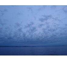Horizon at sunrise on maxi yacht Broomstick Photographic Print