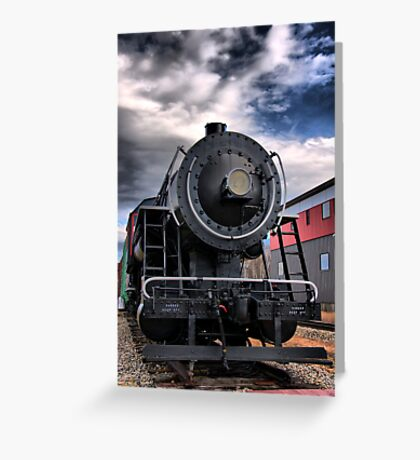 Locomotive in HDR Greeting Card