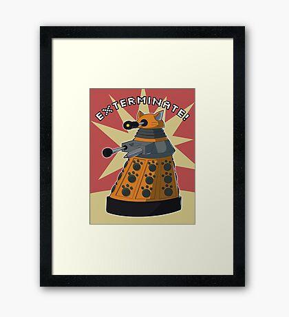 Orange Dalek Framed Print