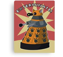 Orange Dalek Canvas Print