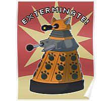 Orange Dalek Poster