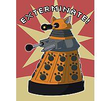 Orange Dalek Photographic Print