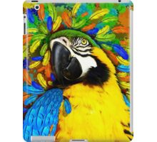 Gold and Blue Macaw Parrot Fantasy iPad Case/Skin