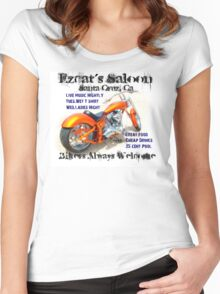 Ezcat's Saloon Women's Fitted Scoop T-Shirt