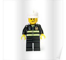 Fireman Minifig Poster
