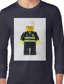 Fireman Minifig Long Sleeve T-Shirt