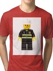 Fireman Minifig Tri-blend T-Shirt