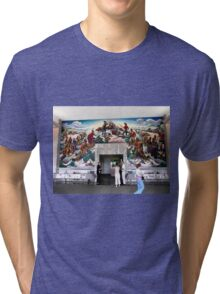 Mural, Temple of the Community of Christ, Independence, Missouri USA Tri-blend T-Shirt