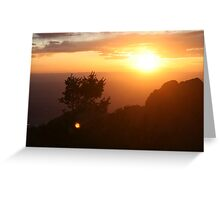 highrise sunset Greeting Card