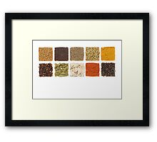 Spices Framed Print