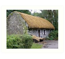 woodland country cottage Art Print