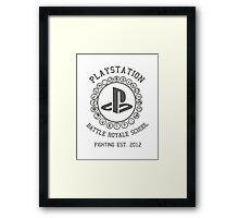 Playstation Battle Royale School (Grey) Framed Print