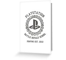 Playstation Battle Royale School (Grey) Greeting Card