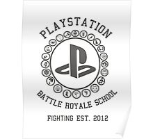 Playstation Battle Royale School (Grey) Poster