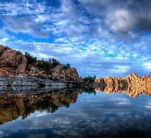 Watson Lake Calm by Bob Larson
