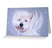 Winter Angel ( Westie) Greeting Card