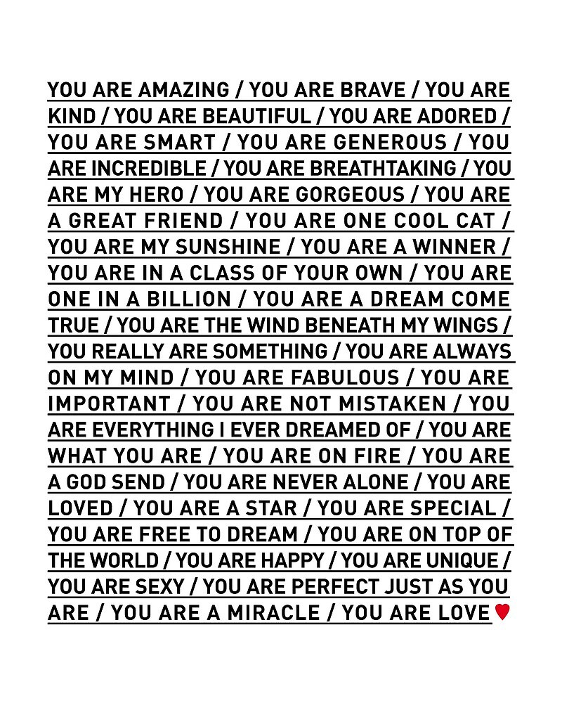 YOU ARE LOVE by TheLoveShop