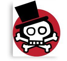 Get more debonair skull. Canvas Print
