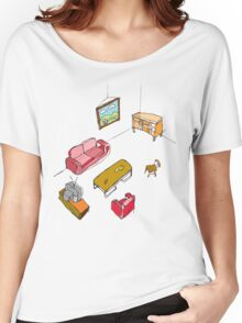 An empty living room  Women's Relaxed Fit T-Shirt