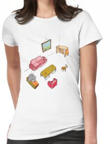 An empty living room  Womens Fitted T-Shirt