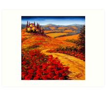 Tuscany Spring Road to the Villa Art Print