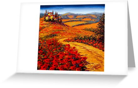 Tuscany Spring Road to the Villa by sesillie