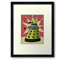Yellow Kitty Dalek Framed Print