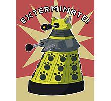 Yellow Kitty Dalek Photographic Print