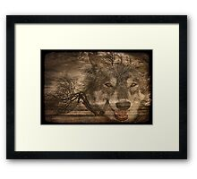Willow Wolf Framed Print