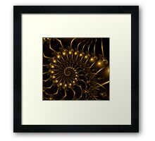 Golden Wire Spirals Framed Print