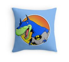 Bat-Rex Throw Pillow