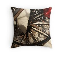 Stepping into the frame Throw Pillow