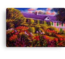 Monet's Garden and House Canvas Print
