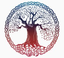 Celtic Tree (inverted sunset) Kids Clothes