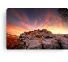 The Rock Wall at sunset Canvas Print