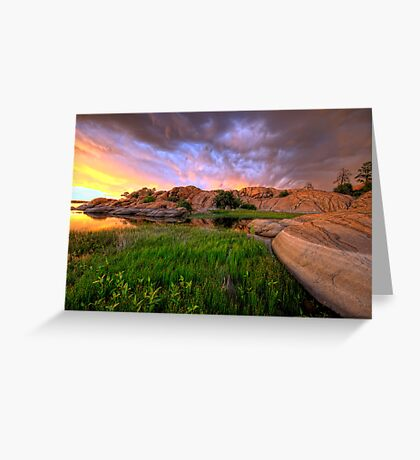 Willow Lake Round Rock Greeting Card