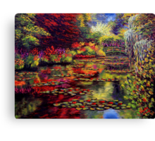 The Colors on Monet's Pond Canvas Print