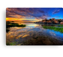 Willow Lake Spring Sunset Canvas Print