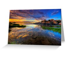 Willow Lake Spring Sunset Greeting Card