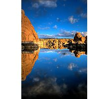 Watson Lake Sky/Rock reflect Photographic Print
