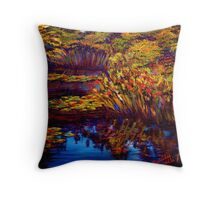 The Edge of Claude's Pond Throw Pillow