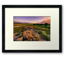 The rock wall 2 Framed Print