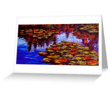 Luscious Lilies on Monet's Pond Greeting Card