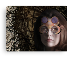 eye as a lens - steampunk variations - beyond the stone tower Canvas Print