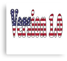 Version 1.0 USA Original American Canvas Print