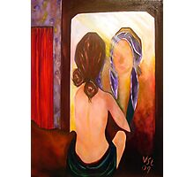 Woman in the mirror Photographic Print