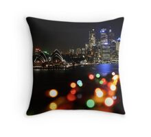 Christmas Time In Sydney Throw Pillow