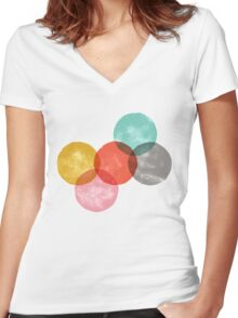drops/2 Women's Fitted V-Neck T-Shirt