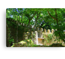 Overgrown ruins - Sintra (Portugal) Canvas Print