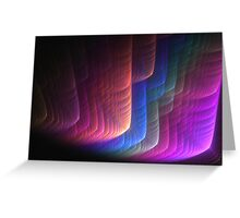 The rainbow abstract Greeting Card